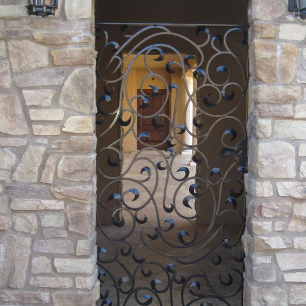 ornate wrought iron gate. decorative wrought iron courtyard gate stockton ornate